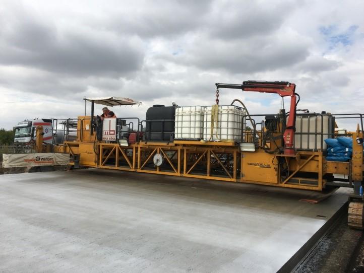 Erneuerung der Fahrbahn BAB A 14 Halle-Trotha – Einbau und Qualitätssicherung