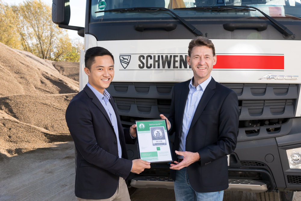 Fünf Werke der SCHWENK Beton Berlin-Brandenburg erhalten CSC-Zertifizierung in Silber