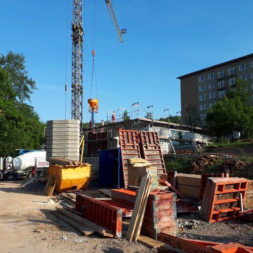 Bild 1: Übersichtsfoto Bau des medizinischen Gebäudes im Wald-Klinikum Gera