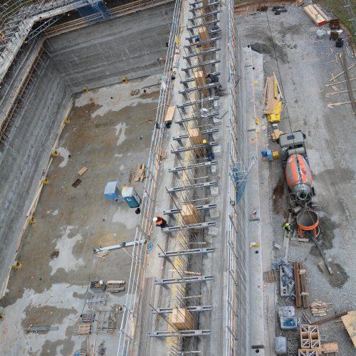 Logistik beim Betoneinbau