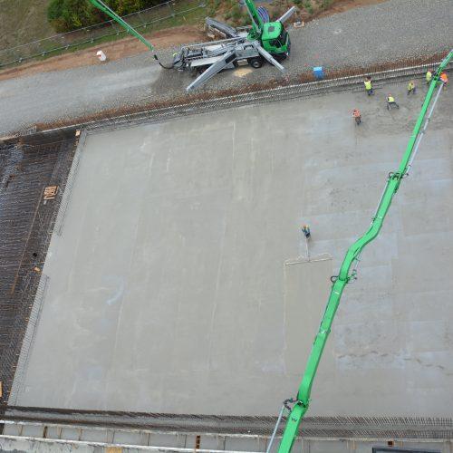 Herstellung des zweiten Abschnittes der Bodenplatten