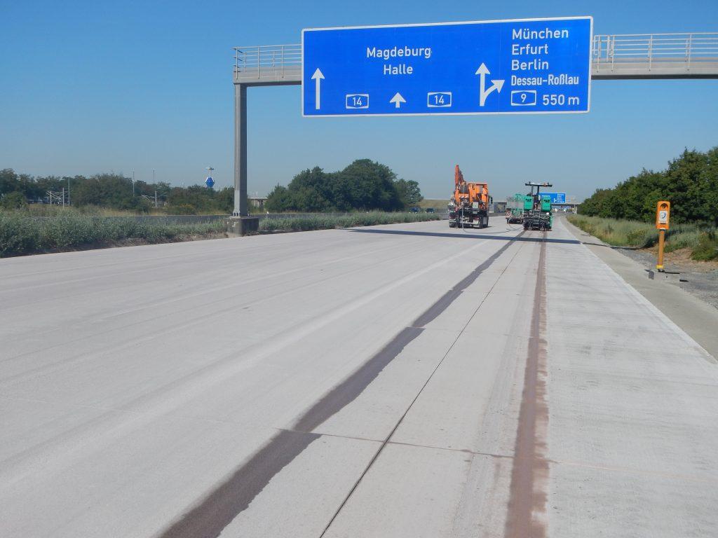 Erneuerung der Fahrbahn BAB A 14, Ausfahrt Leipzig Mitte – Schkeuditzer Kreuz, Richtungsfahrbahn Dresden – Magdeburg