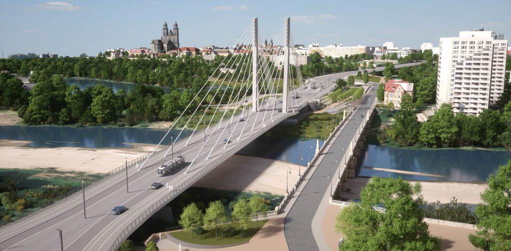 Neue Strombrücke Magdeburg